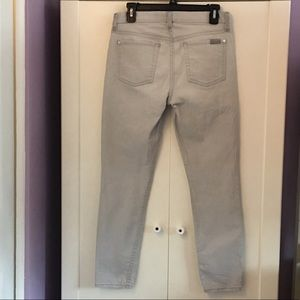 7 For All Mankind Jeans - 7 For All Mankind gray cropped skinny jeans   27